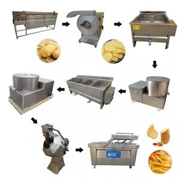 Automatic industrial potato chips making machinery french fries production line